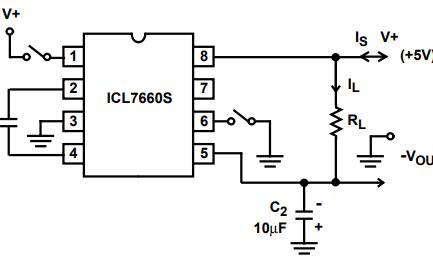 ICL7660S單片CMOS電壓轉換芯片的數據手冊免費下載