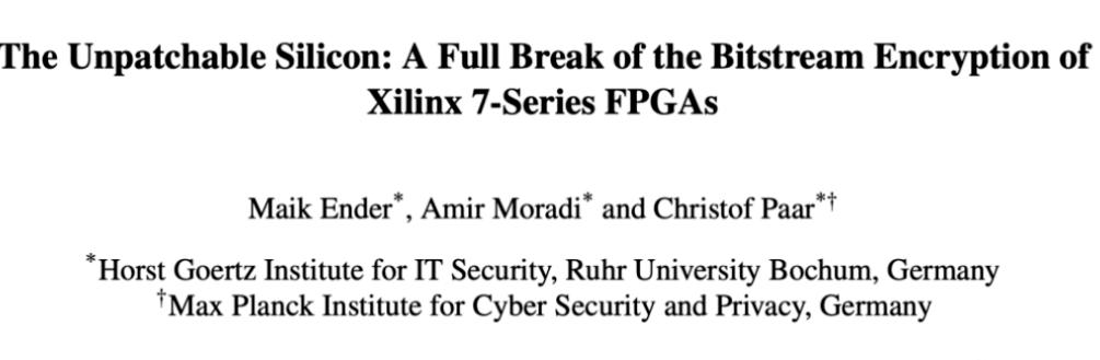 FPGA中隐藏了一个安全漏洞
