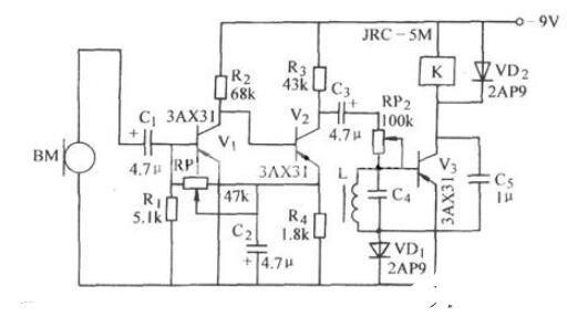 选频声控电路图_选频声控开关电路