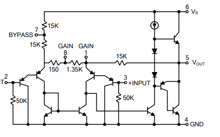 LM386线性集成电路的数据手册免费下载