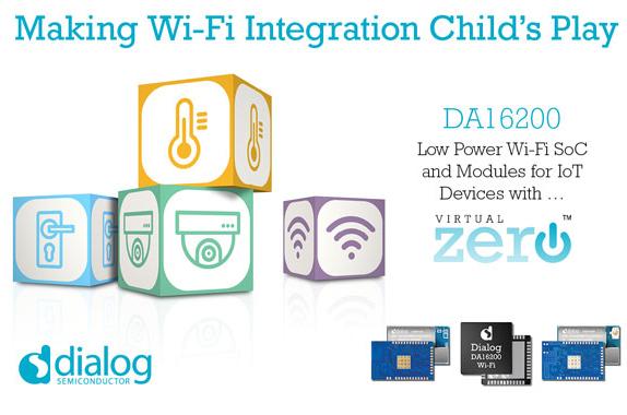Dialog半导体推出Wi-Fi搜集SoC芯片DA16200,供给冲破性电池续航才能