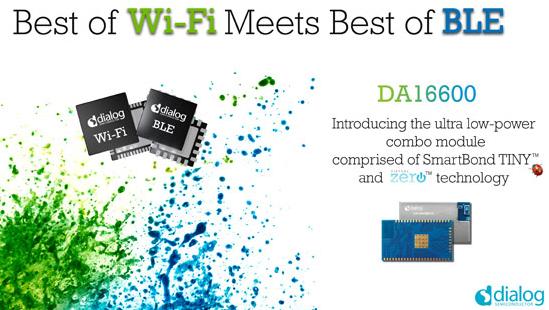 Dialog半导体推出DA16600模块,专为电池供电的IoT应用而设计