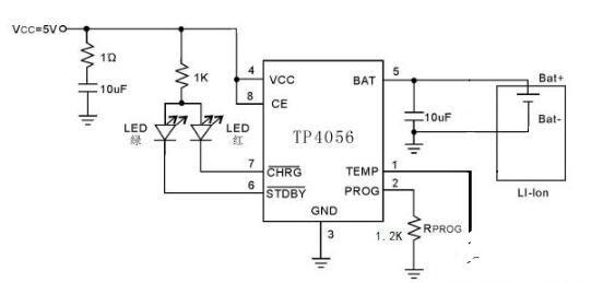 简单的锂电池充电管理电路图