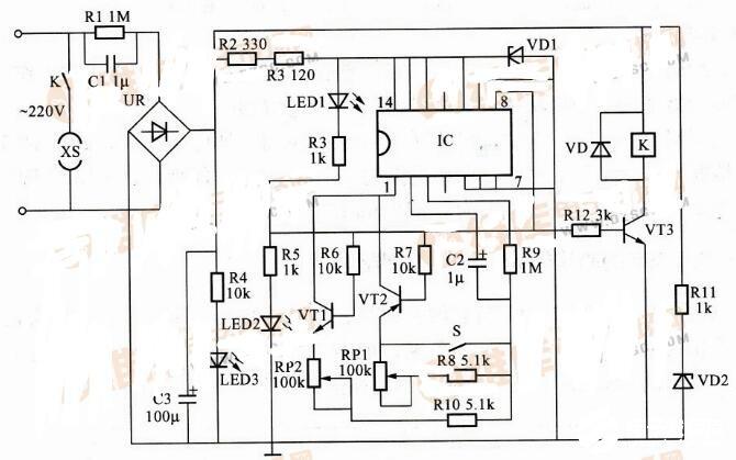 两款循环定时控制器电路图解析