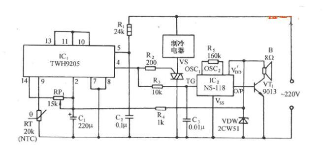 冷关断式温度控制电路图_低温冷关断式温度控制电路图
