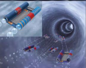 世界上最小的微型电子机器人,通过射出双喷射气泡实现移动