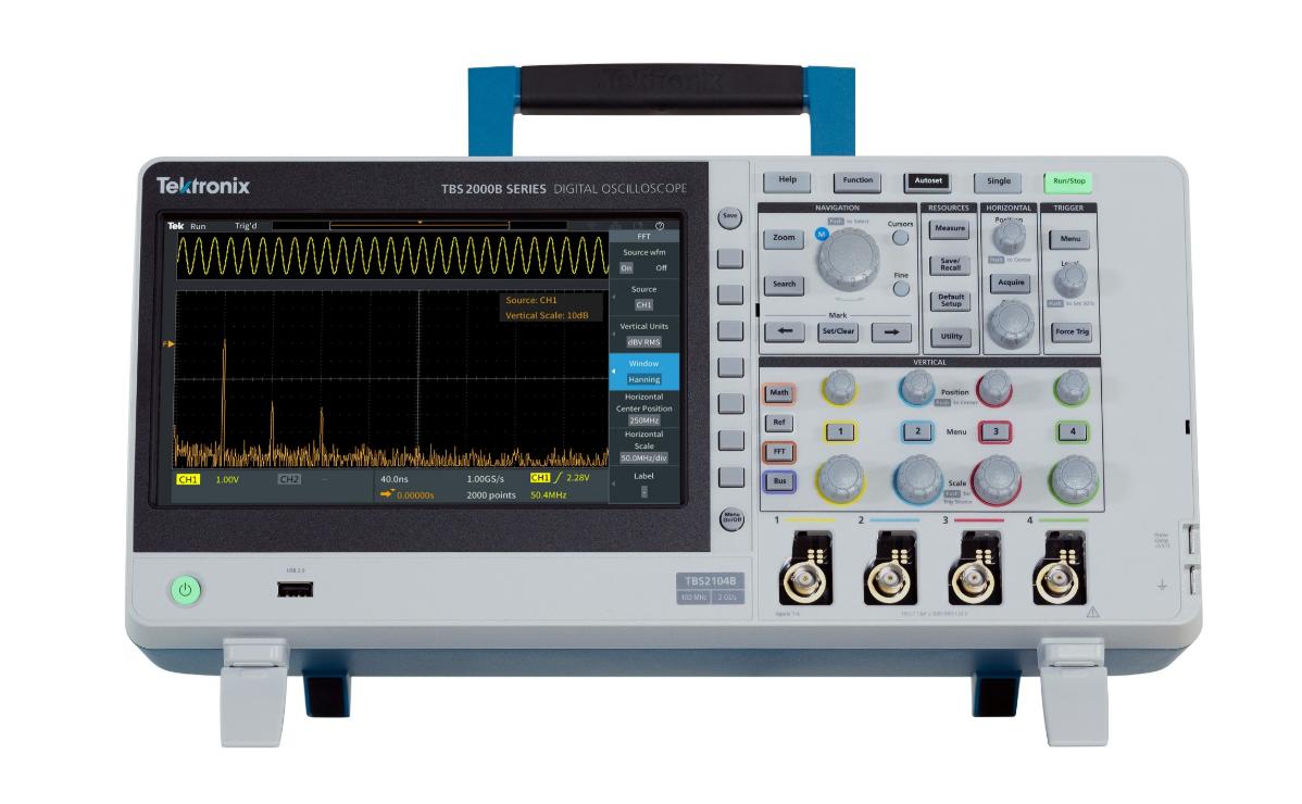 e絡盟引入泰克新款入門級TBS2000B數字存儲示波器