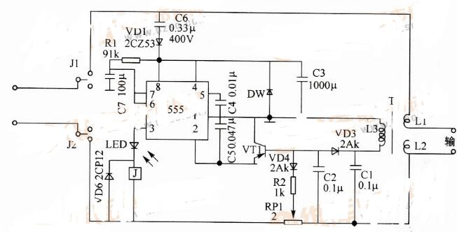 電子保安器電路圖_觸電保安器電路圖