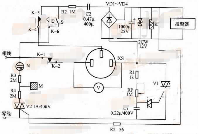 漏电报警交流调压器电路图_全自动的交流调压器电路