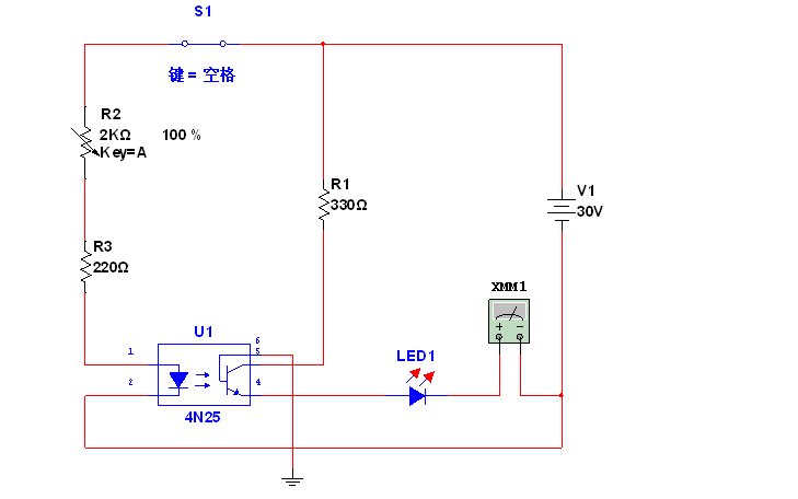 光電耦合器的測試電路資料說明