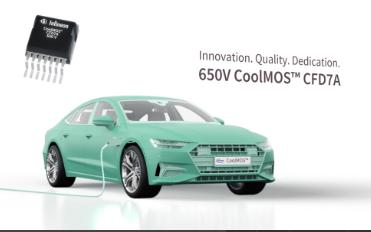 全新650 V CoolMOS™ CFD7A系列为汽车应用带来量身定制的超结MOSFET性能