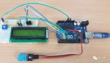 构建一个小电路以将Arduino与DHT11温湿度传感器接口