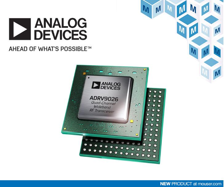贸泽电子备货Analog Devices ADR...