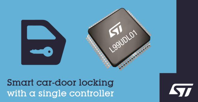 意法半导体高集成度通用型IC集成车门锁控制器——L99UDL01