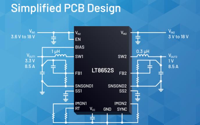 ADI推出低EMI的雙通道Silent Switcher系列,支持疊加式輸出電流配置