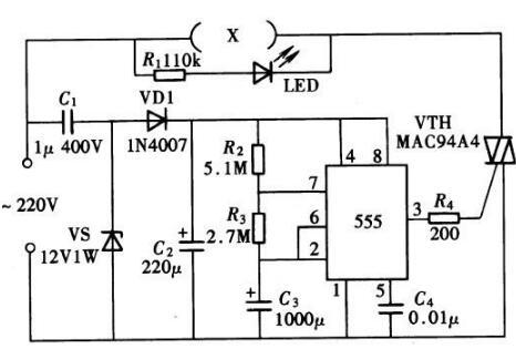 电热式灭蚊器控制电路解析