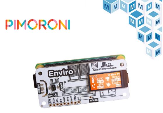贸泽开售用于树莓派的Pimoroni PIM486 Enviro 实现室内传感数据的远程访问