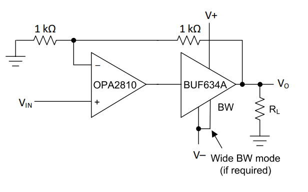 BUF634A输出高速缓冲器的数据手册免费下载