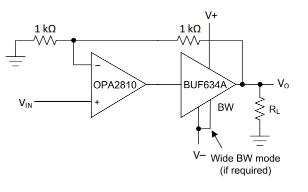 BUF634A輸出高速緩沖器的數據手冊免費下載