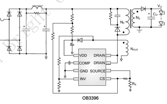 OB3396 LED照明控制器的数据手册免费下载