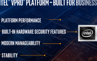 Intel发布第十代商用博锐平台,数据分析和可视化速度提升高达44%