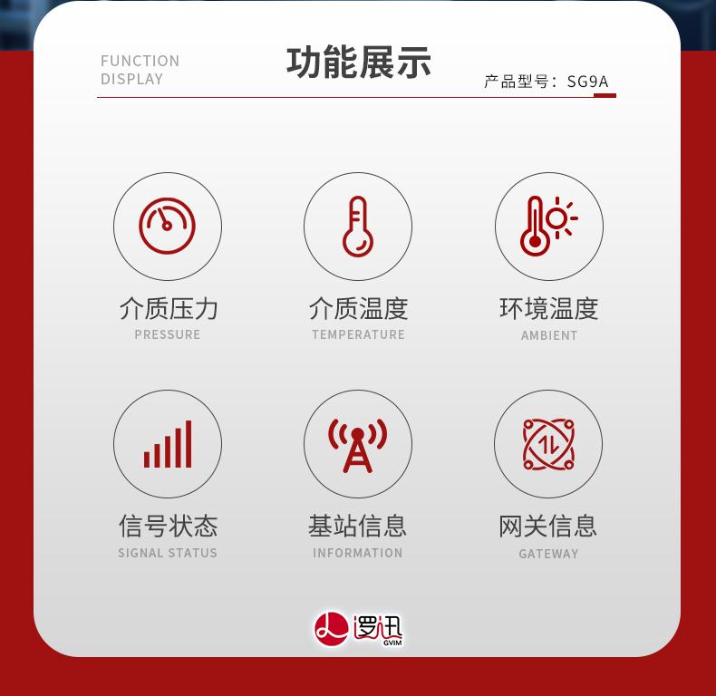 上海逻迅无线液压感知器-水压油压气压产品型号SG9A