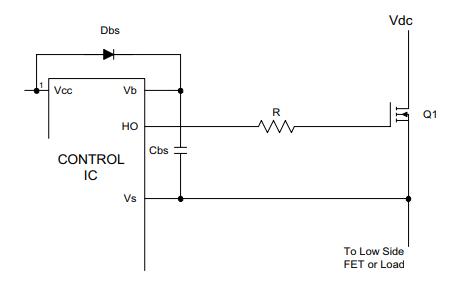 控制芯片的自舉元件選擇資料說明