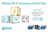 Dialog推出最新超低功耗Wi-Fi SoC