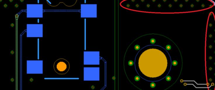 板邊鋪地打屏蔽過孔對打靜電是否有效
