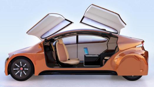 通过3D打印出的配备自动驾驶技术的Loci电动汽车