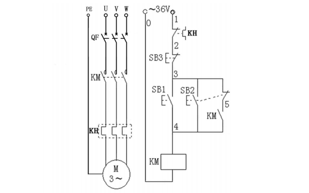 K2X系列电动机电气原理图免费下载