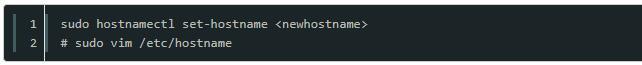 Linux如何修改主机名命令