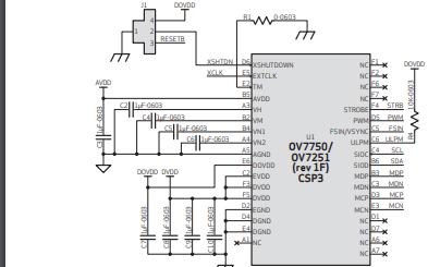 OV7750和OV7251 CMOS VGA图像传感器的数据手册免费下载