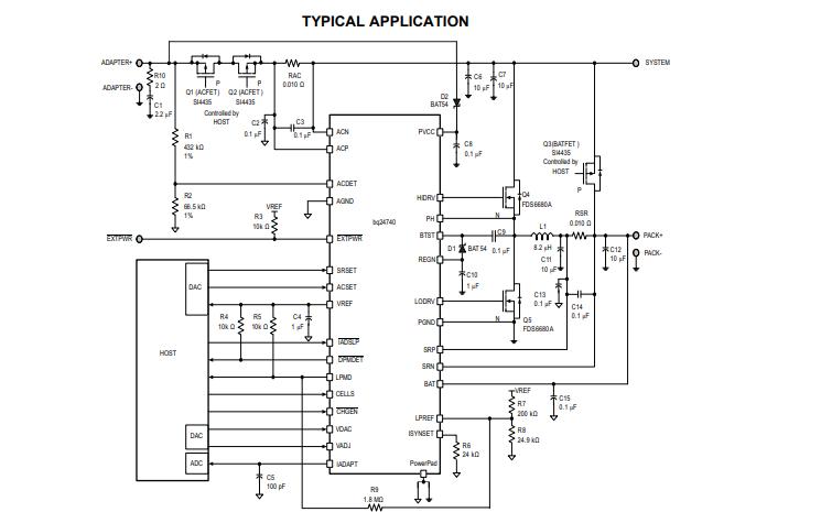 BQ24740高效同步电池充电器的数据手册免费下载