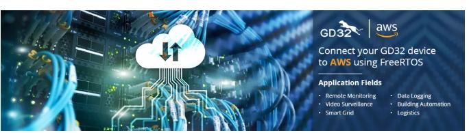 兆易创新GD32 MCU联手Amazon AWS共建嵌入式云平台