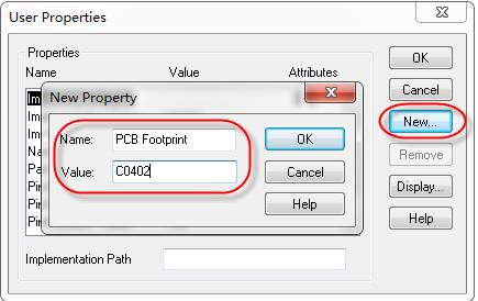 怎么显示与隐藏原理图库的PCB封装名称