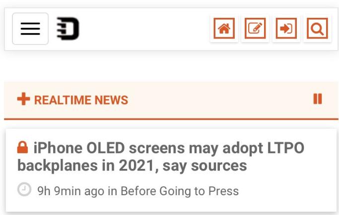 2021年款苹果iPhone显示屏或将加入采用LTPO背板技术