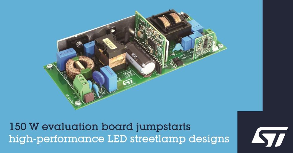 意法半导体新推 LED驱动器评估板和参考设计