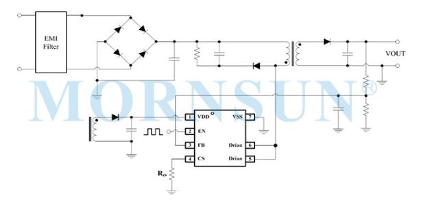 金升陽推出功率密度高、響應快速費控開關電源控制芯片