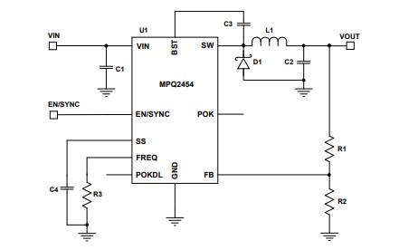 MPQ2454降压开关稳压器的数据手册免费下载
