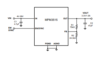 MPM3515帶集成電感的降壓轉換器的數據手冊免費下載
