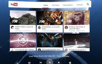 谷歌计划在YouTube开发VR应用程序