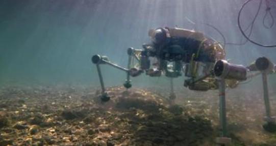 """意大利研究团队研发出海床上行走的""""清洁工""""机器人SILVER2"""