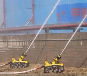 消防机器人可实现互联网数据远程传输
