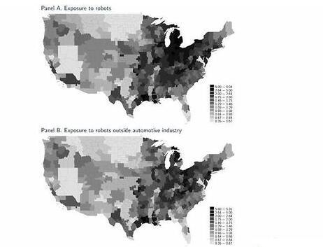 机器人在美国制造业采用率分析