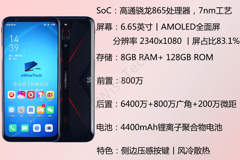 拆解紅魔5G手機 放棄全面屏 還有15000轉/分風扇