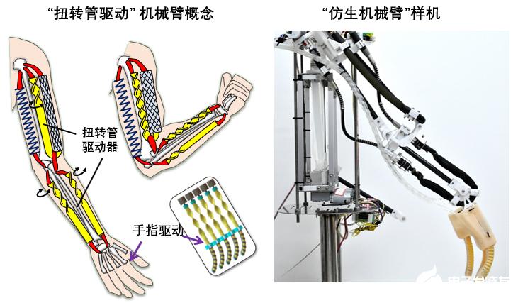 柔性機器人的三種典型的扭轉管驅動模式