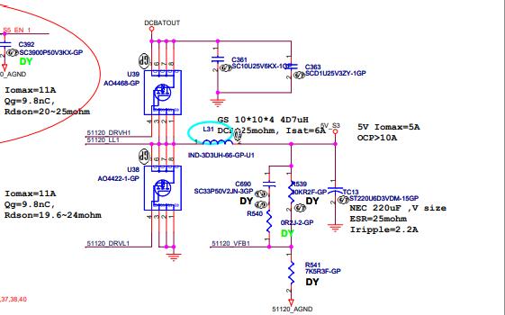 TPS51120筆記本電腦芯片的電路原理圖免費下載