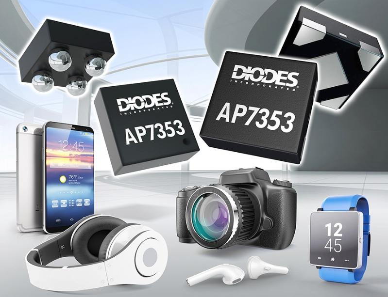 Diodes推出符合噪聲敏感型產品應用電壓調節的AP7353低壓差穩壓器