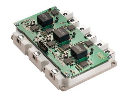 三相1200V/450A SiC MOSFET電動汽車智能功率模塊